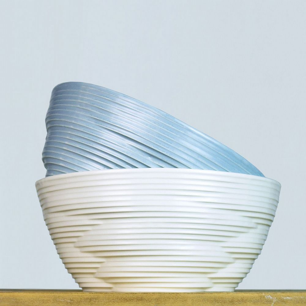 Harriet Caslin Porcelain - Knotted Large Bowl - Choice Of 3 Colours
